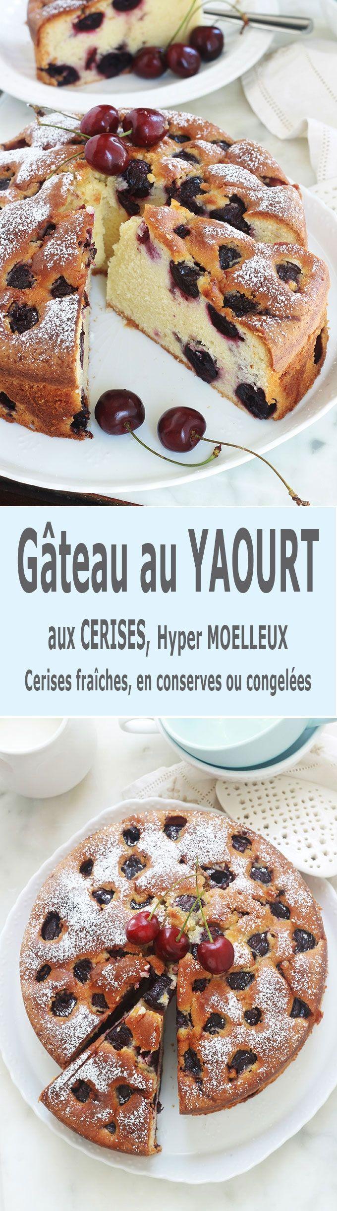 Gâteau au yaourt aux cerises hyper moelleux