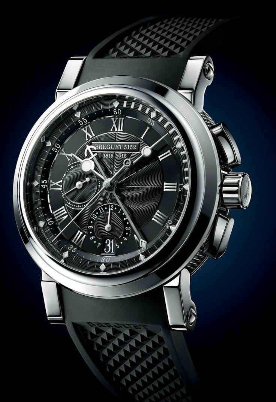 "TimeZone : Industry News » Basel 2015 - Breguet Marine Chronographe ""200 Ans de Marine"" 5823"