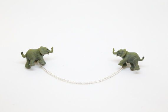 Elephant Collar Clips / Cardigan Clips / Sweater by ClipArtIRL