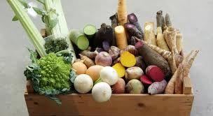 vergeten groenten in mand