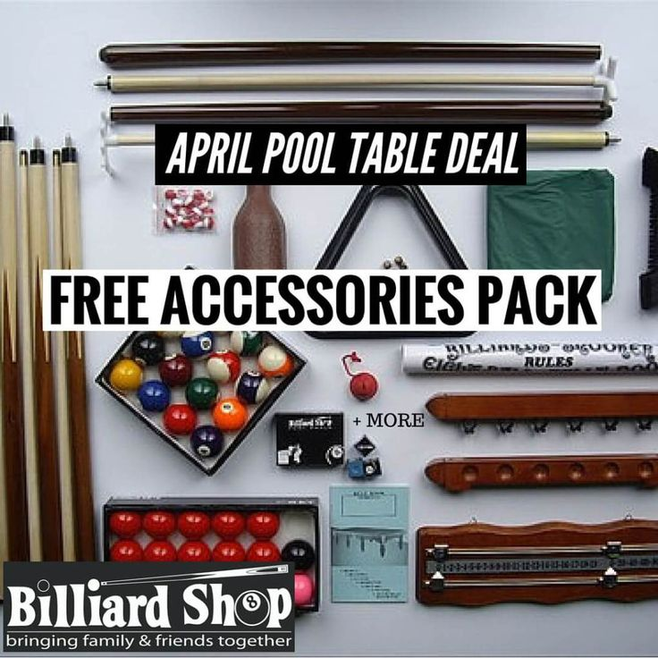 April Pool Table Special