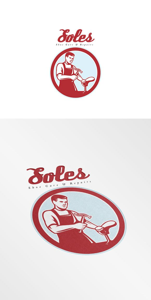 Soles Shoe Repair Logo by patrimonio on Creative Market