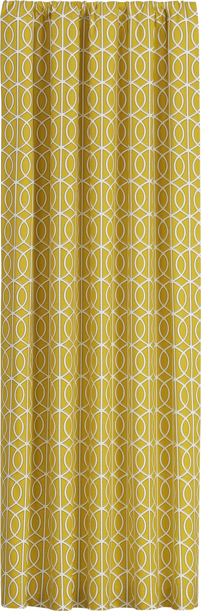 Bella Porte Citrine 50x108 Curtain Panel in Curtains | Crate and Barrel