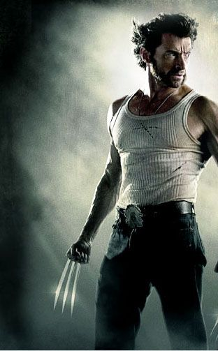 Hugh Jackman as Wolverine  again, it's art!