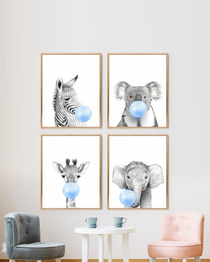 Affiche animaux jungle