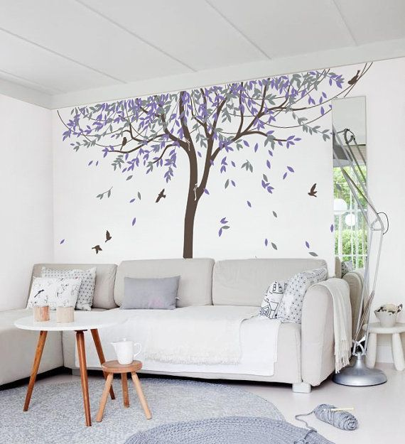 Exceptional Nursery Willow Tree Wall Decal Wall Sticker   Tree Wall Decal Birds    MM005_B