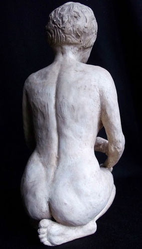 Vintage signed 1950's hand made art pottery SCULPTURE of a FEMALE NUDE WOMAN