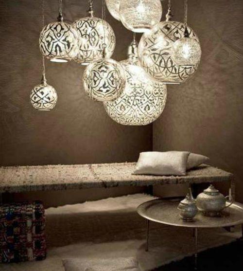 """Egyptian Moroccan Pendant Light Chandelier Lantern Lighting 15"""" Diameter"""