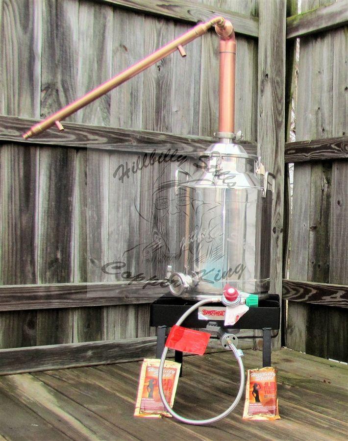 8 Gallon Copper Moonshine Still Kit / With Burner
