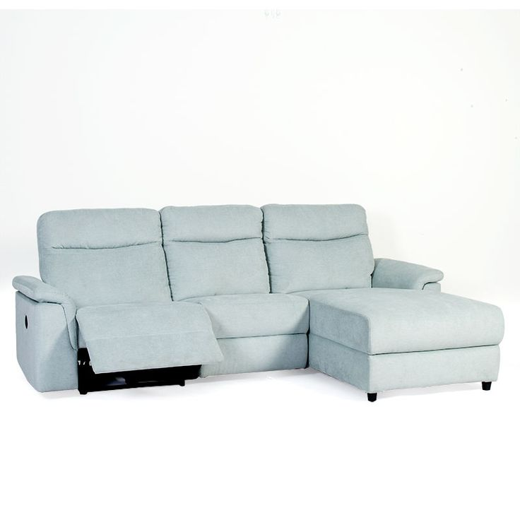 Fifth Ave 3 Seater Chaise Lounge Featuring Powered Recliner - Discount Lounge Centre