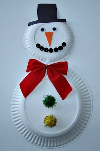 Frosty The Snowman Craft - can't forget the paper plate snowman!