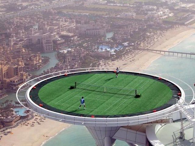 Playing Tennis Like This  30 Crazy & Hilarious Things That You'll Only See In Dubai • Page 4 of 6 • BoredBug