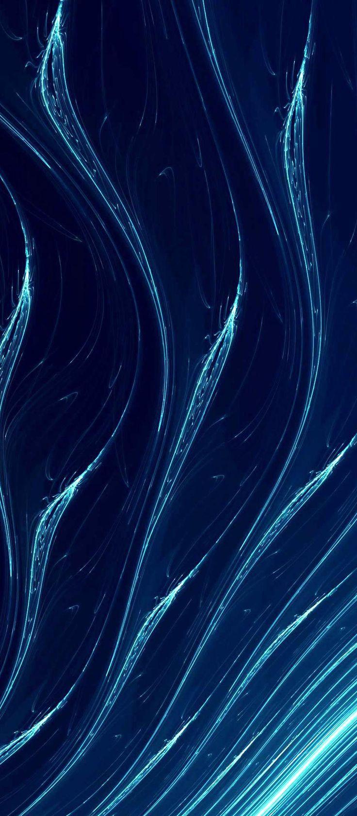 Iphone X Wallpaper Blue waves hd k HdIphone X Wallpaper