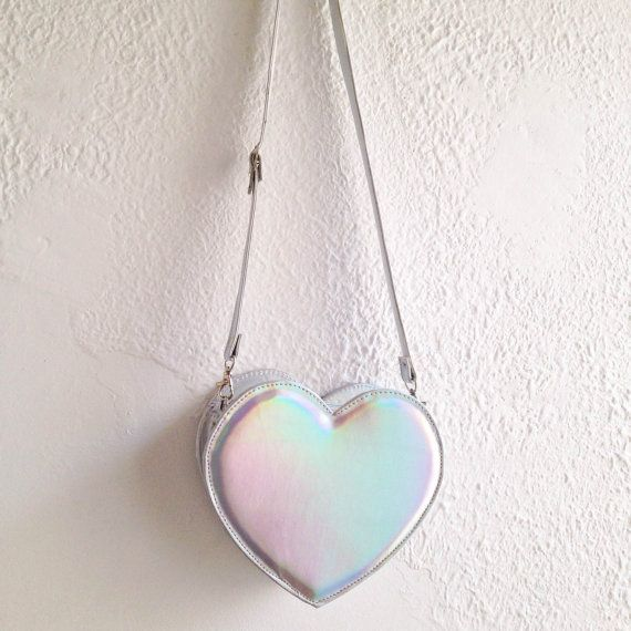 Heart Faux Leather Crossbody Bag Handmade to order by goldenponies