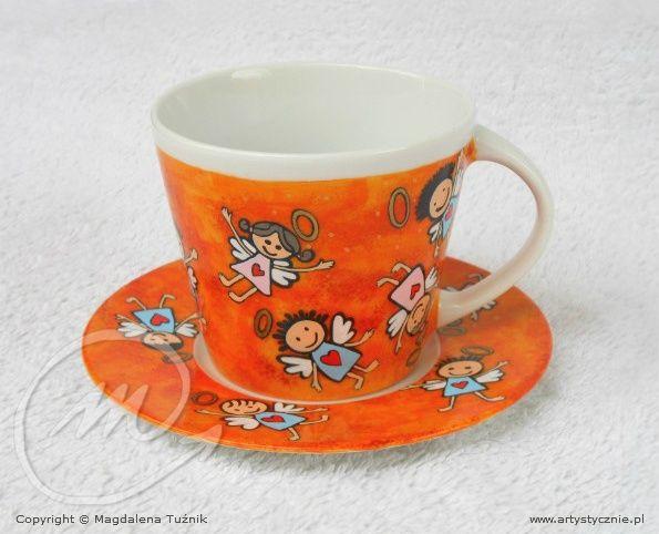 Filiżanka Aniołki - cup in Angels