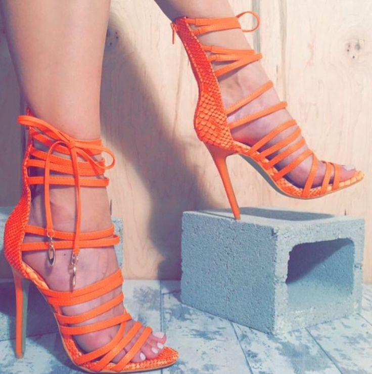 1000  ideas about Orange Strappy Heels on Pinterest | Strappy ...