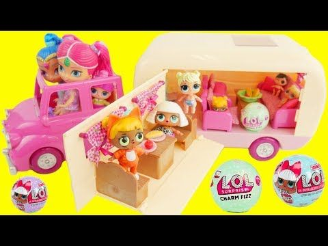 Don't Wake LOL Surprise Dolls Shimmer and Shine Game Camper Van Color Changing Fizz Fizzy Bomb Balls - YouTube