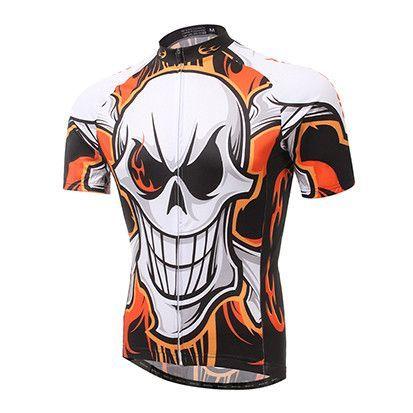 XINTOWN Cycling Jersey ciclismo Bike Bicycle bicicleta Flame Skull short sleeve shorts cycling pants/ shorts or bib shorts