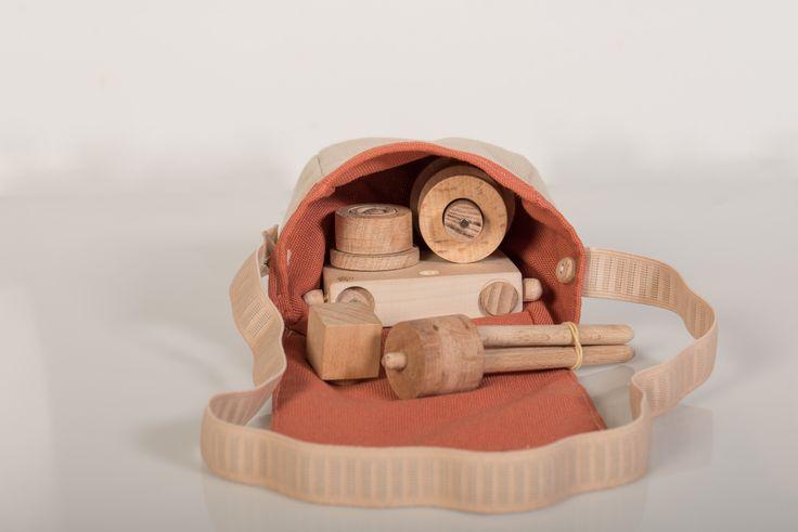 Wooden Toy Camera Set