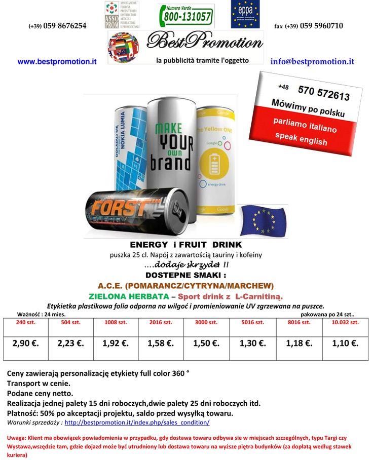 ENERGY i FRUIT DRINK | Woda Reklamowa