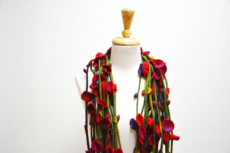 Felt Flowers /Assorted Felt Flowers /  Felt Flower Scarf / Felt Flower Necklace by TheWinterElephant on Etsy https://www.etsy.com/listing/214040046/felt-flowers-assorted-felt-flowers-felt