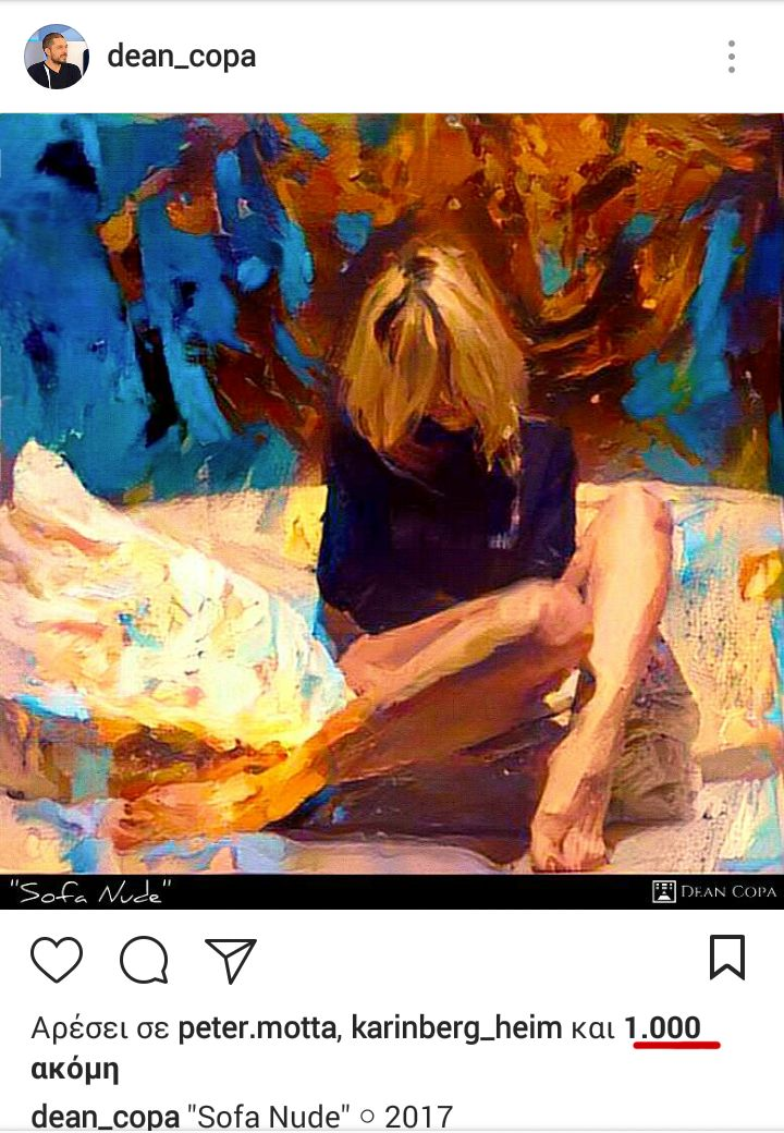 Instagran is my tour de force for the first 4 months of worldwide exposure of my artistry. More than 5,000 followers and the first art piece to surpass 1,000 likes . #DeanCopa #Thankful
