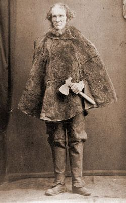 Joseph Bolitho Johns better known as Moondyne Joe is Western Australia's best known bushranger.The only photo of Moodyne Joe shows him holding a tomahawk and wearing a kangaroo skin cape. The photograph was taken by Alfred Chopin who was a convict transported to Western Australia and became one of the colony's first portrait photographers. It was first published in The Sunday Times on May 27, 1924 as an illustration accompanying an article on Moondyne Joe.