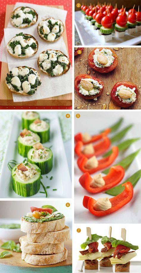 Aperitivos de verduras / Vegetable party snacks