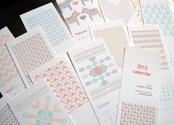 Modern cross stitch patterns from Pistachio Press