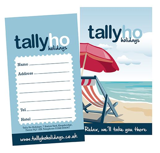 New luggage label designed for the clients of TallyHo Coaches in South Devon #graphicdesign