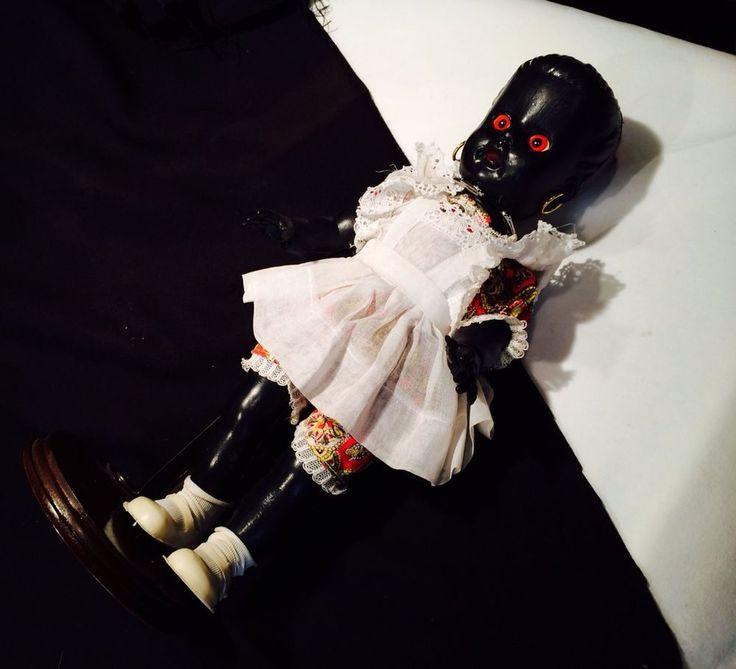 Vintage Black Gothic Horror Voodoo Doll Demon Red Eyes ...