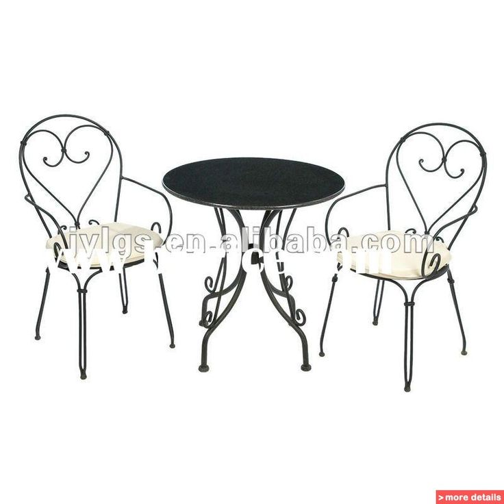 Iron Table And Chairs Part - 46: Black Wrought Iron Cafe Table And Chairs | Wrought Iron Restaurant Furniture  Set / China Metal