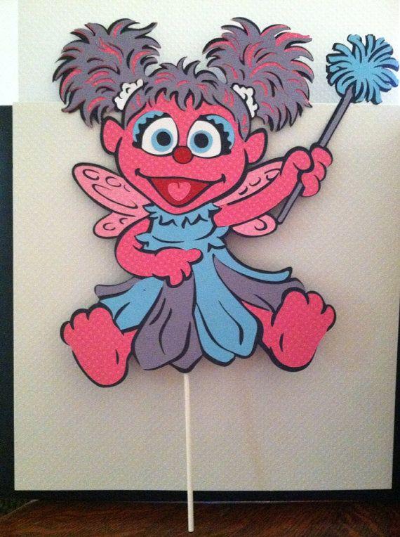 Sesame Street's Abby Cadabby 11 Centerpiece by aSavvyScrapbooker, $7.00