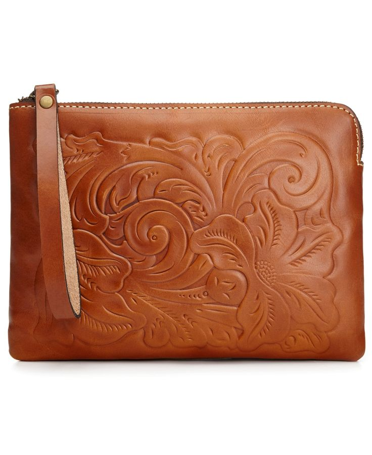 Patricia Nash Cassini Tooled Wristlet - Handbags & Accessories - Macy's