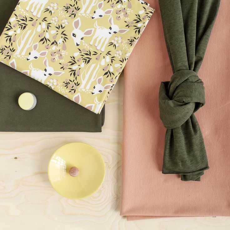 KATSE, Yellow - Rose | Nosh.fi ENGLISH | Get inspired by new NOSH fabrics for Summer 2017! Discover new colors and prints in quality organic cotton. Shop new fabrics at en.nosh.fi