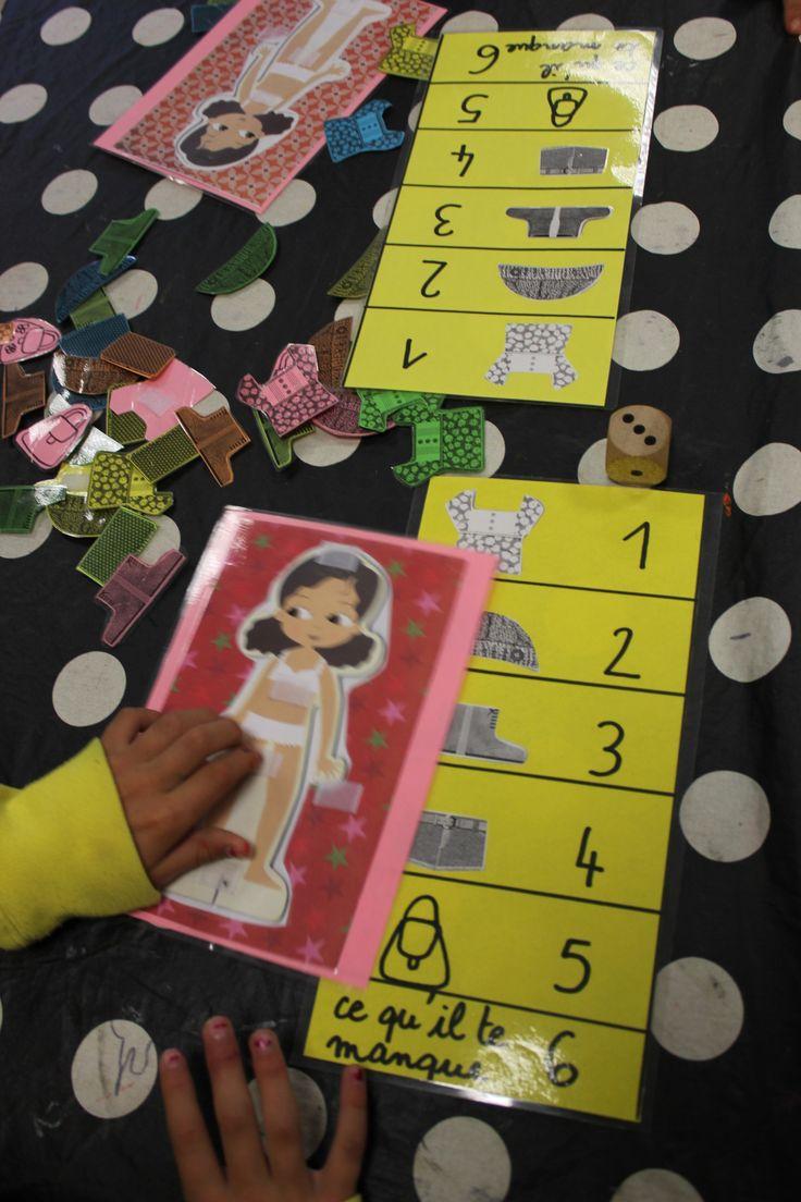 jeu des poupées à habiller, en duel : la face 6 permet de choisir un élément manquant