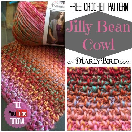 Free Crochet Pattern: Jilly Bean Cowl includes YouTube ...