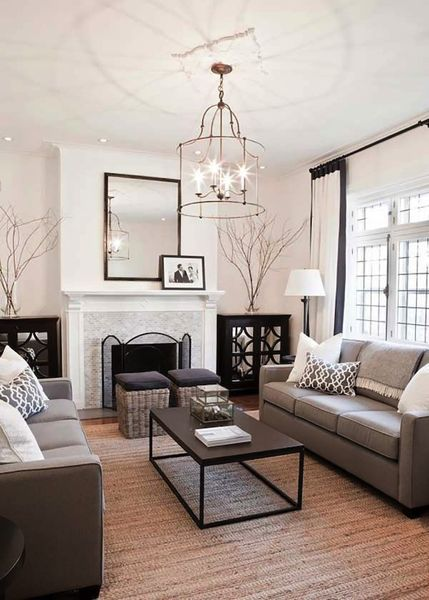 Beautiful Neutral Transitional Living Room Inspiration Part 13