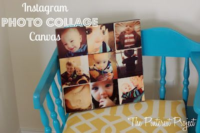 The Pinterest Project: Instagram Photo Collage Canvas with Mod Podge