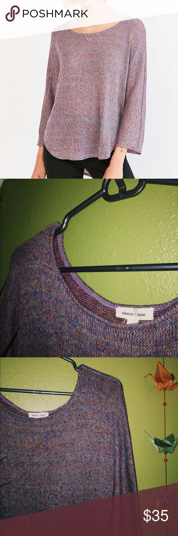 ღsilence + noise multicolored sweater dope sweater that has beautiful multicolored stitching! Urban Outfitters Sweaters Crew & Scoop Necks