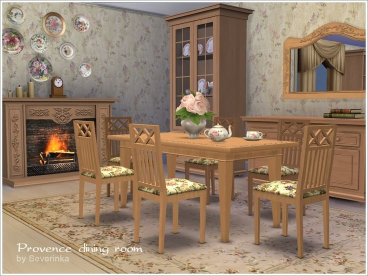 A Set Of Furniture For Your Sims In Provence Style Found TSR Category 4 Dining Room Sets