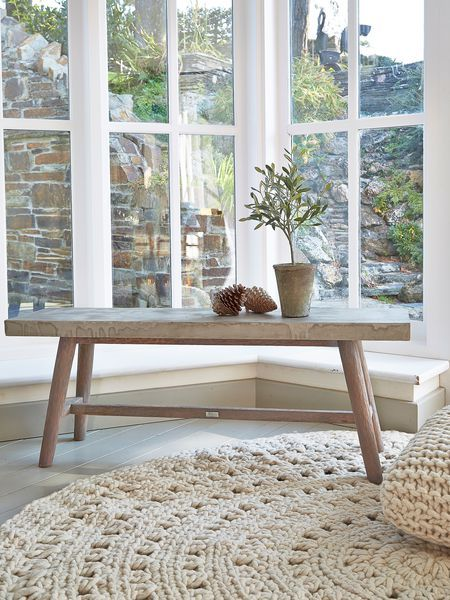 Concrete Topped Bench - Nordic House
