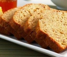 Banana Oat Bread: A healthy, low fat snack with ripe bananas and oats for energy.