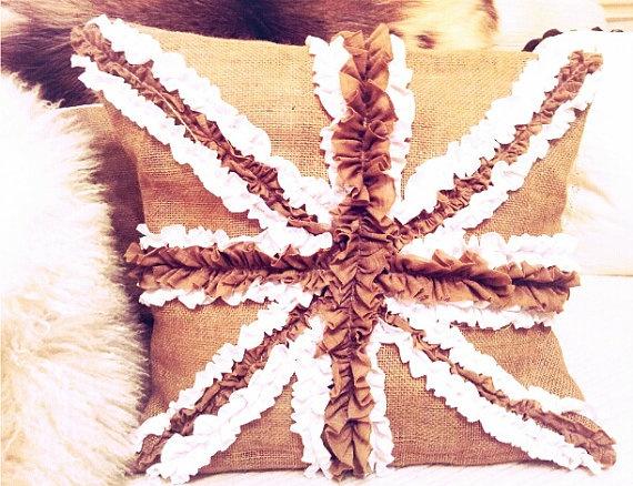 Ruffled Union Jack Pillow $45.00