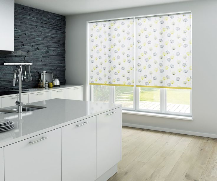 Nice Our beautiful Calista Citrus Roller Blinds are sure to add a fresh homely touch to your home We love how they look in this gorgeous contemporary kitchen