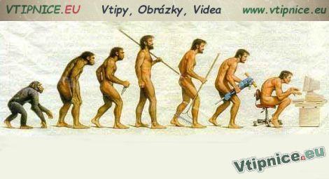 Vtipné obrázky - vývoj člověka