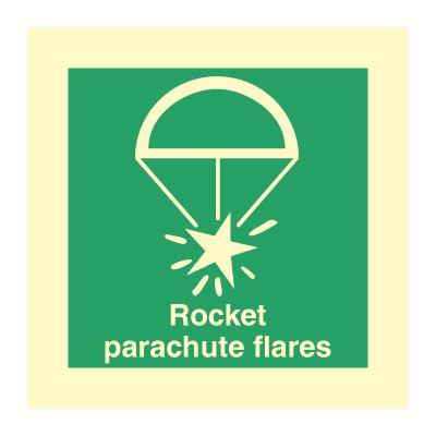 Rocket parachute flares