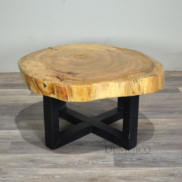 Johannesburg Coffee Table Modern Features: Bringing In A Modern Feel, The Base Of This Live Edge