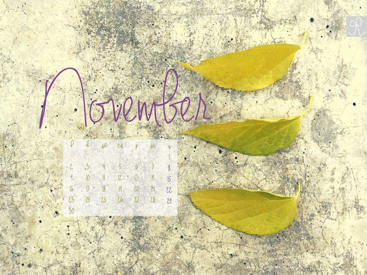 2015. november, naptáras ingyen letölthető háttérkép - Free desktop calendar November 2015