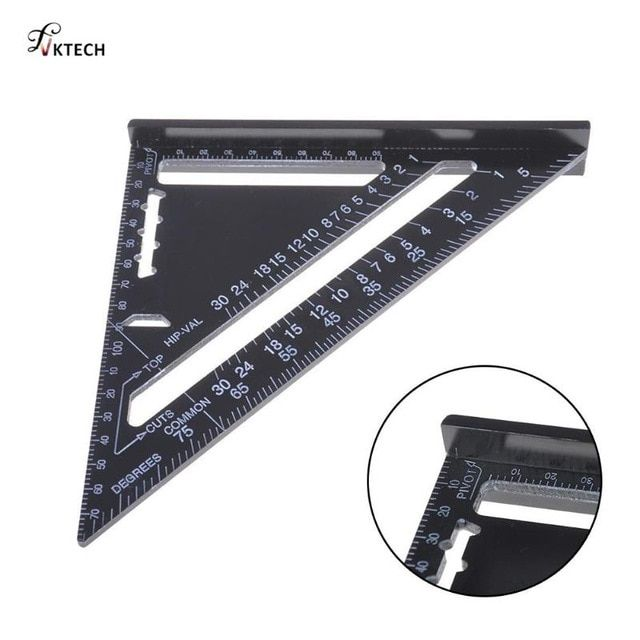 7 12inch Aluminum Alloy Metric Triangle